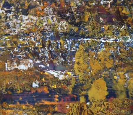 Rinascita nel campo (10cm.detail); cm. 120x125, encaustic, 1996
