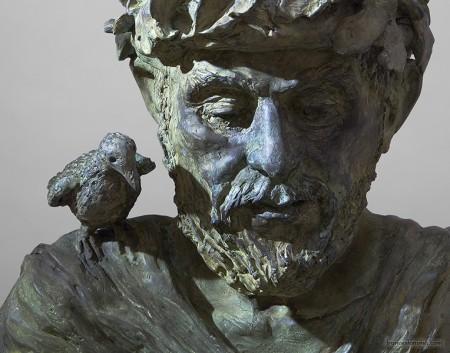 Il saggio del bosco; cm.200x170, bronze, 2008