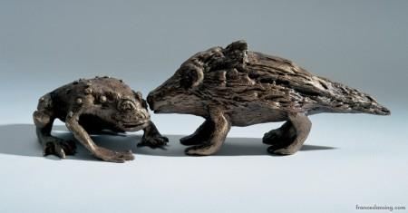 La rana; cm. 10x7x3, bronzo, 2006