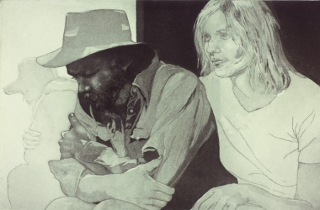 Yates and Frances; cm. 50x35, incisione, 1975