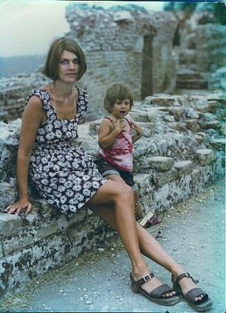 FL with Yates, Taormina 1973 (C.Toraldo di Francia)