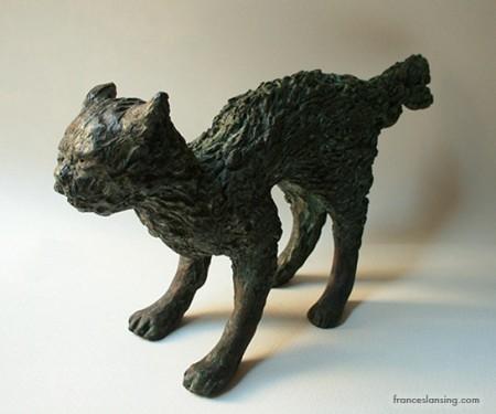 •Gatto (Lulu) arrabbiata, 27x12x6, bronze, 2009