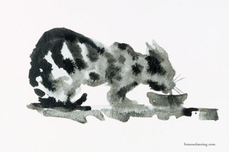 Lulu's milk; 15x10 cm., ink, 1999