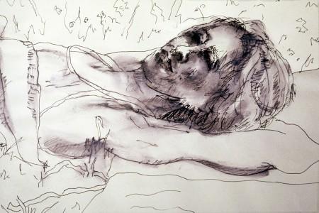 Monica, 24x16cm., ink, 1996