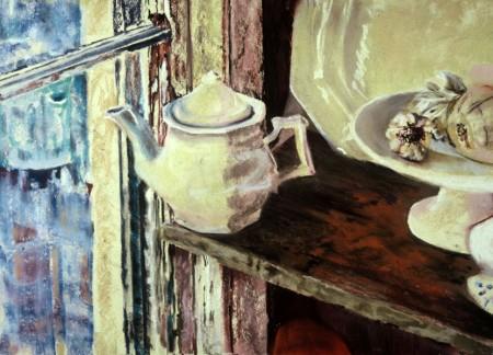 White Street, 45x32cm., pastel, 2002