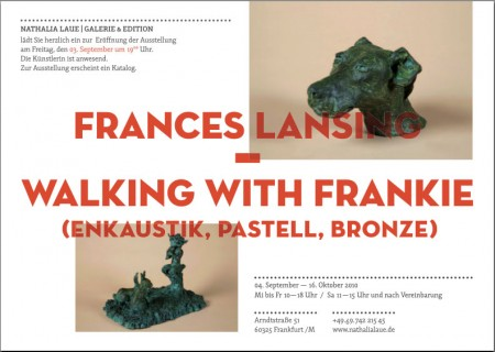 Frances Lansing exhibits at  Nathalia Laue Galerie in Frankfurt, Germany