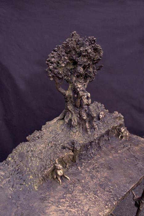 FaunTable (detail) 90x130x35 cm. Bronze 2012