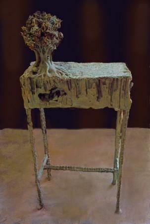 Crete Senesi (table) cm. 100x30x35, bronze 2011